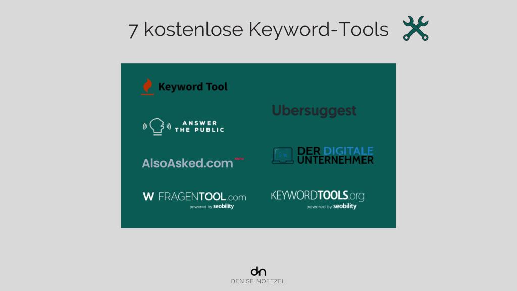 7 kostenlose Keyword-Tools-Anbieter