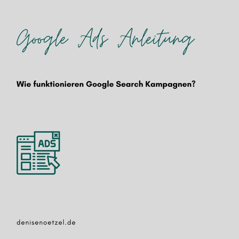 Google Ads Anleitung