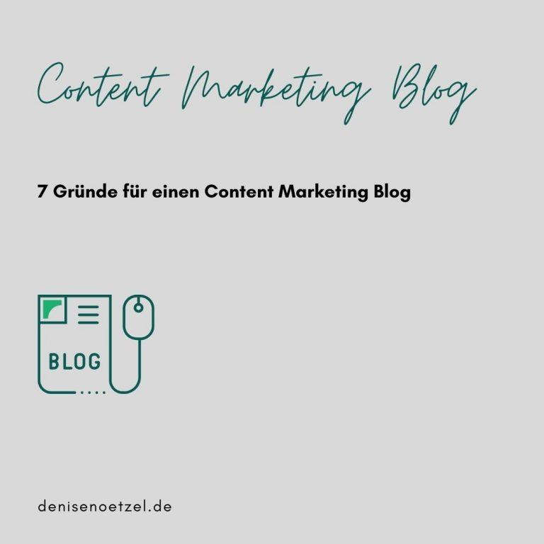 7 Gründe für einen Content Marketing Blog