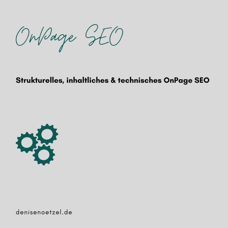 OnPage SEO für Deine Website