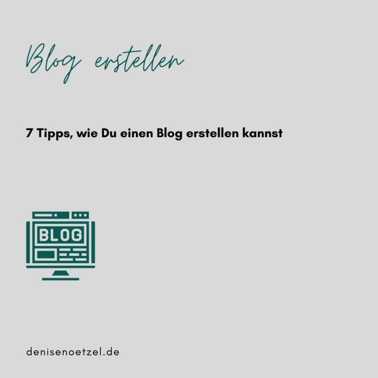 7-Tipps-Blog-erstellen