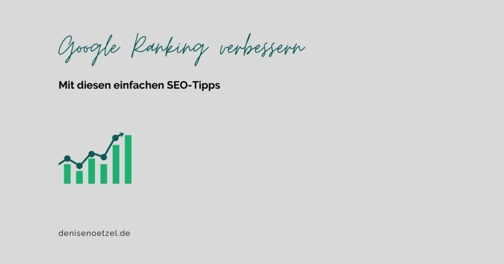 Google Ranking verbessern mit SEO-Tipps