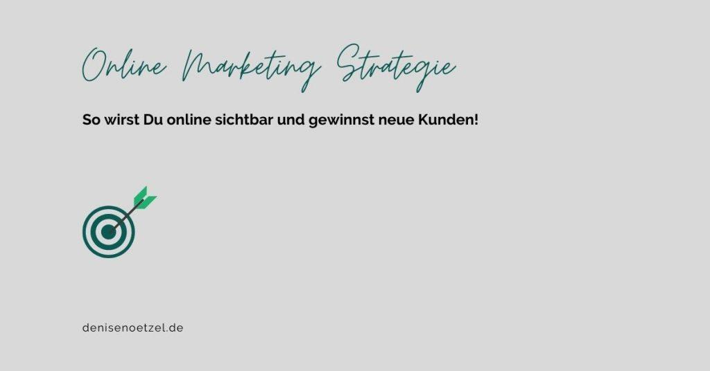 Online-Marketing-Strategie