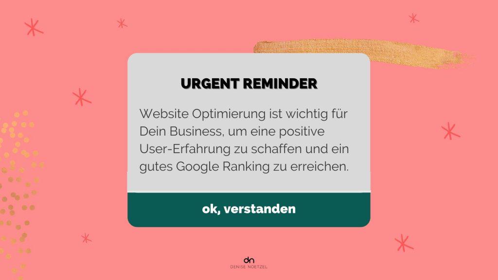 Urgent-Reminder-Website-Optimierung