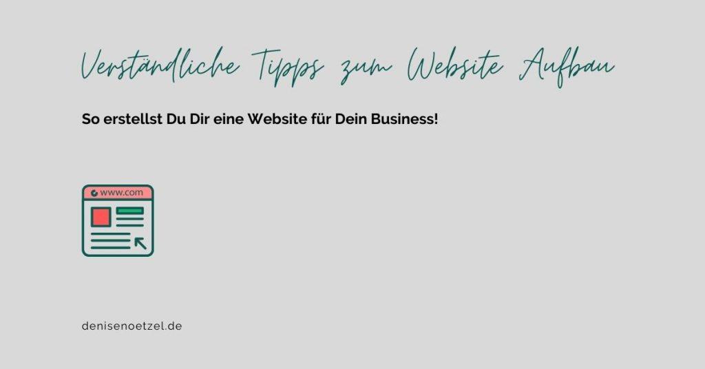 Verständliche Tipps zum Website Aufbau