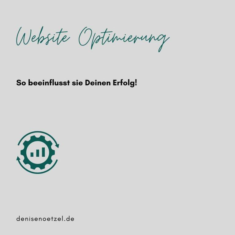 Website Optimierung Beitragsbild