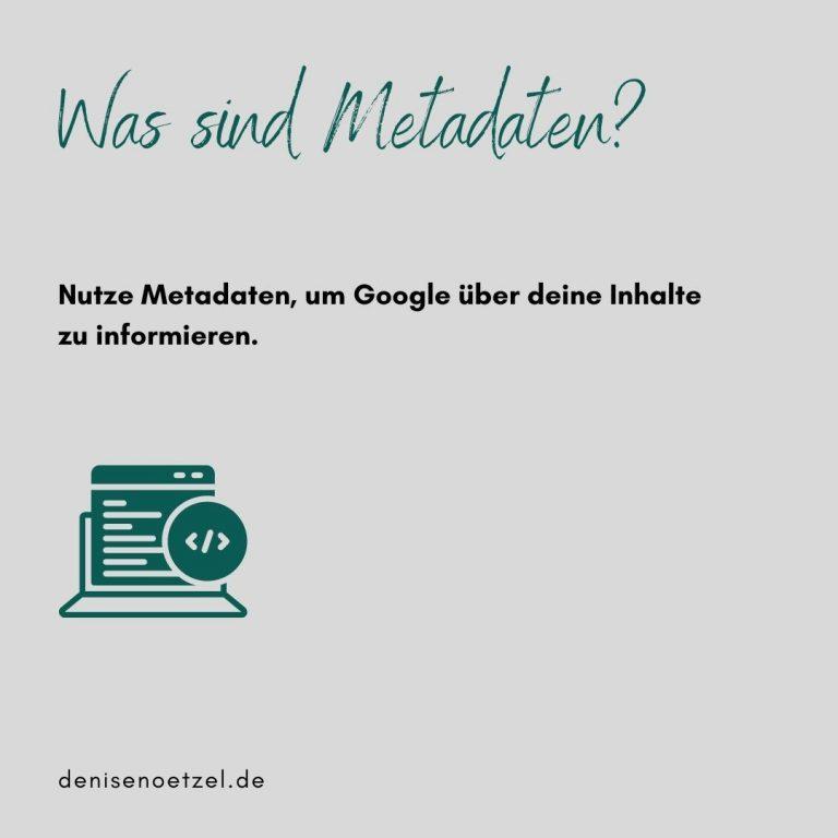 Was sind Metadaten?