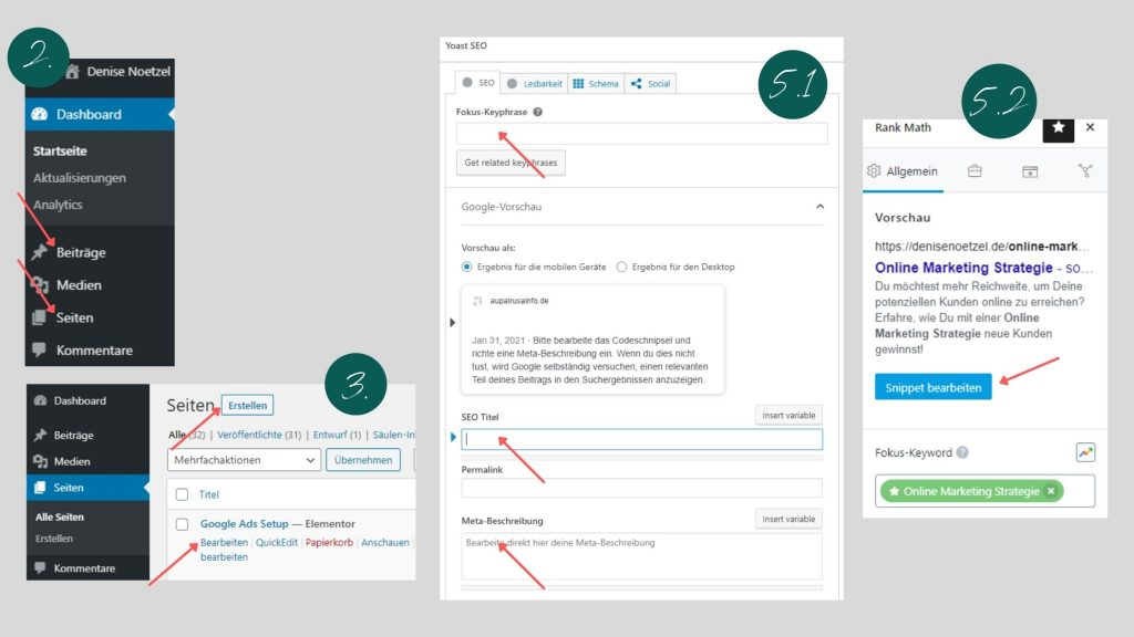 Metadaten in WordPress ändern