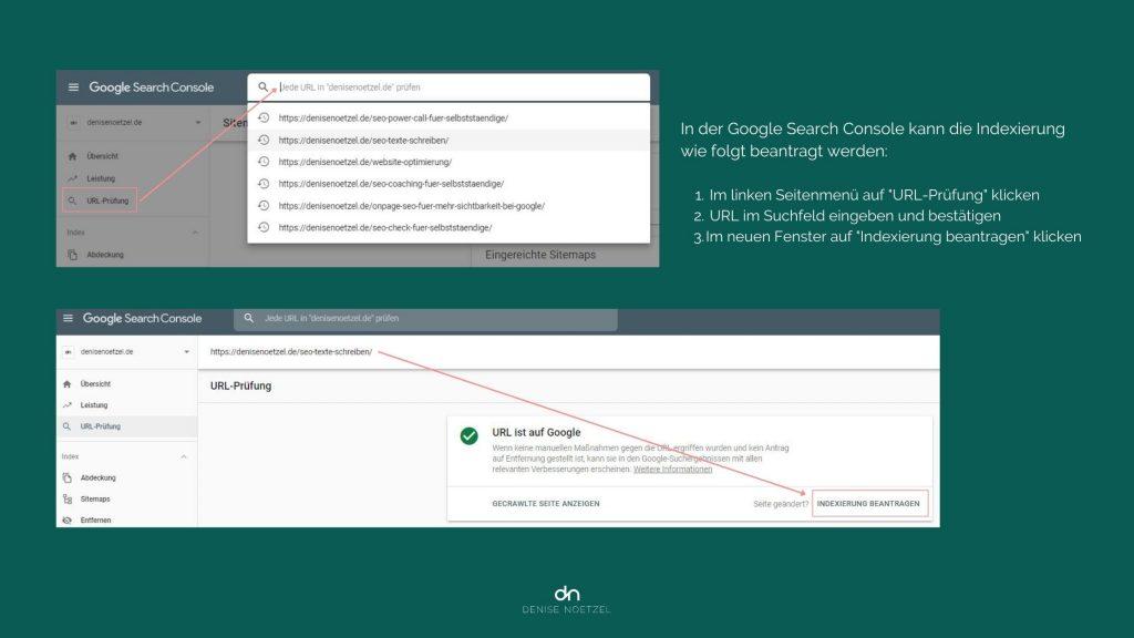 Google Indexierung in der Google Search Console